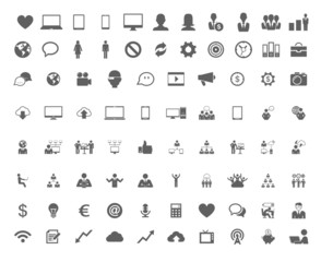 Technology set of flat icons.