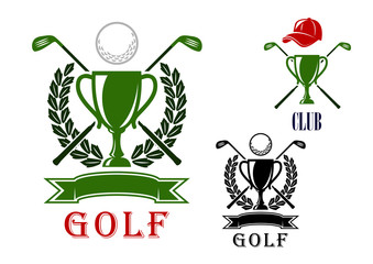 Golf emblem and badges design templates