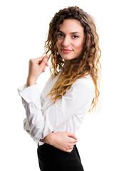 junge attraktive Geschäftsfrau
