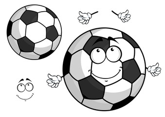 Cartoon football or soccer ball mascot