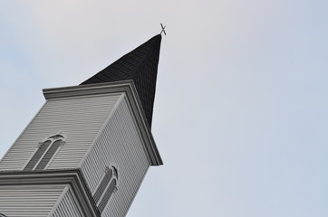 Symbolic Cross on a church steeple