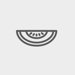 Melon thin line icon