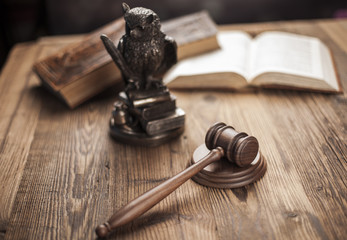 Law and justice concept, legal code