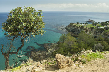 Coastal countryside at Akamas peninsula of Cyprus