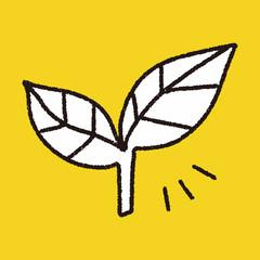 leaf doodle drawing