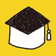 graduation cap doodle drawing