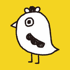 bird doodle drawing