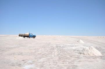 Salt production on the Uyuni salt flats