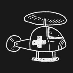 medical helicopter doodle