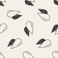 doodle blood seamless pattern background