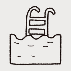 swim pool doodle