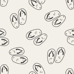Flip flop doodle seamless pattern background