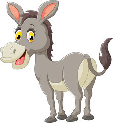 Cartoon donkey happy
