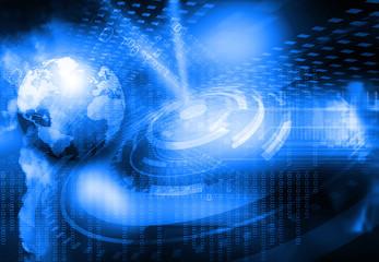 Digital world , global internet technology.