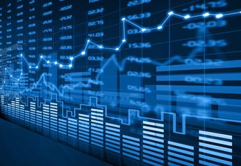 Stock market chart.