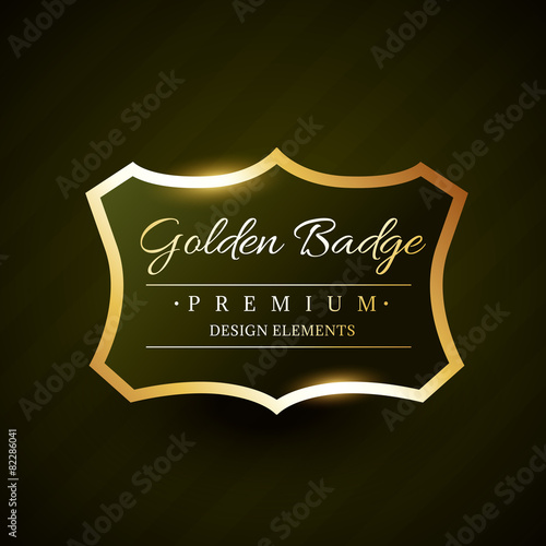 vector golden badge premium label design stock image and royalty