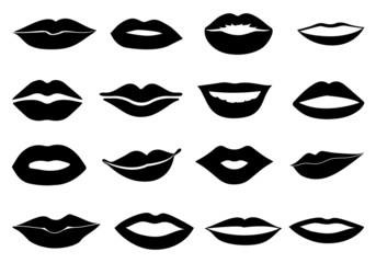 lips icons set