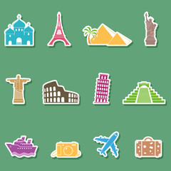 Stickers of travel