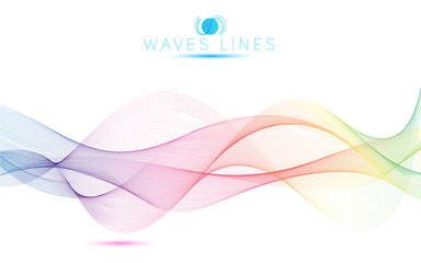 great rainbow waves colorful gradient light blend line bright