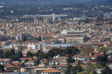 Vue aerienne Montpellier