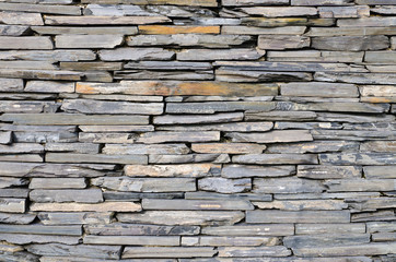 pattern of decorative slate stone wall