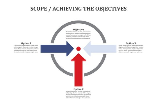 Achieving the Objectives Vector Infographic