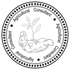 Stamp printing for Agricultural Consultant