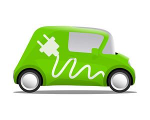 electro car cartoon safe ecology