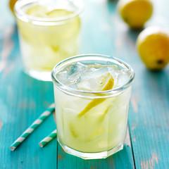 fresh glass of lemonade
