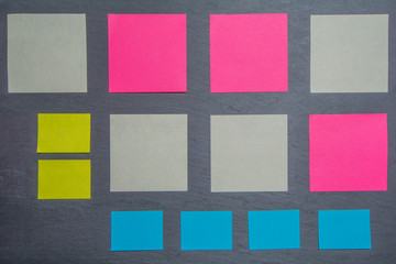 Texture with different kinds of paper sheets