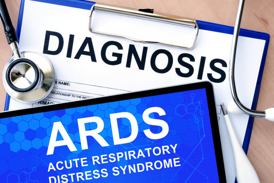Form with diagnosis and acute respiratory distress syndrome ARDS