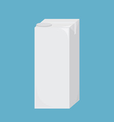 white blank milk or juice tall carton boxes for branding