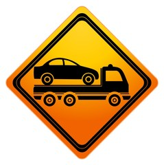 Car towing truck Sign - illustration
