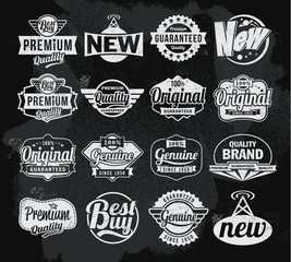 Retro chalkboard label design set