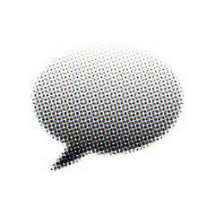 halftone speech bubble