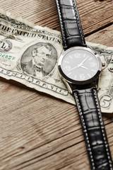 Dollar with clock