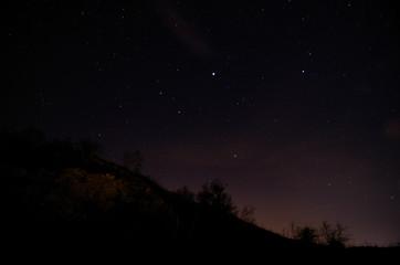 sternenhimmel und berg