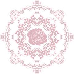 Ornamental pink circular element