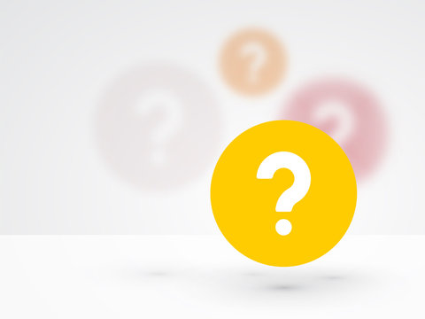 question mark icon on a background blur