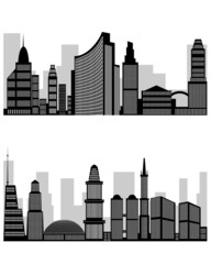 Abstract city silhouette