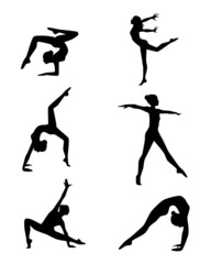 Six gymnasts set