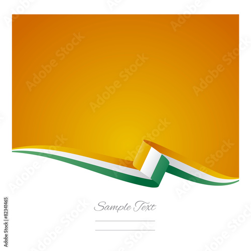 abstract color background ivory coast flag vector