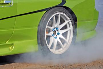Fototapete - Drift Sport Motorsport