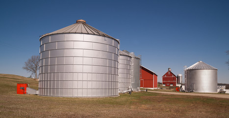 Grain Storage Bins Farm Food Silo Agricultural Property