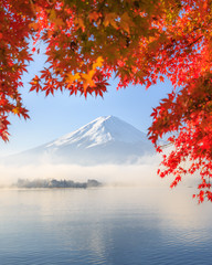 Wall Mural - Autumn Season and Mountain Fuji in Japan