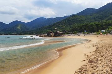 Beach Praia do Cepilho, Trindade, Paraty, Brazil