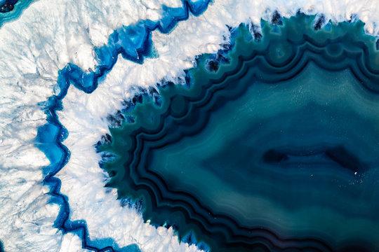 Blue Brazilian geode