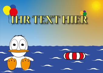 Badespaß - Eigener Text