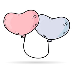 Tied-Up Heart Balloons