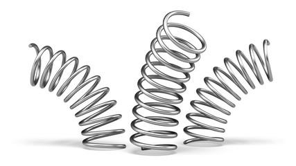 Obraz Springs. 3D. Spring and dynamic concept - fototapety do salonu